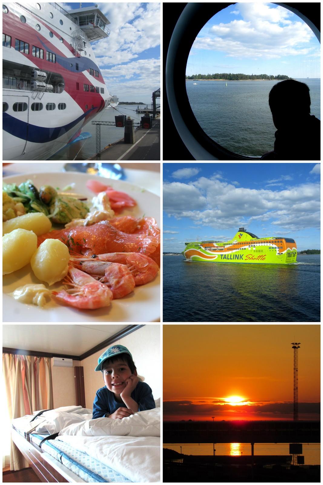 Laivalla Tallinnaan.