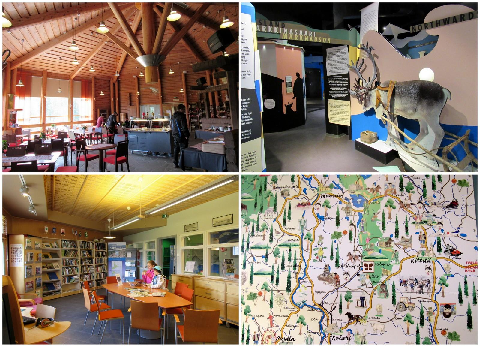 Luontokeskus Kellokas. Yläkerrassa on mm. ravintola ja kirjasto, alakerrassa korkeatasoisesti toteutettu näyttely.