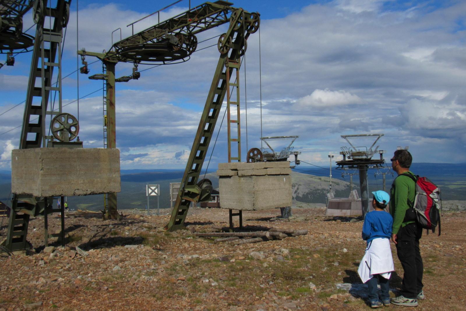 Yllästunturi. Betonipainot kiinnostivat pientä insinööriä.