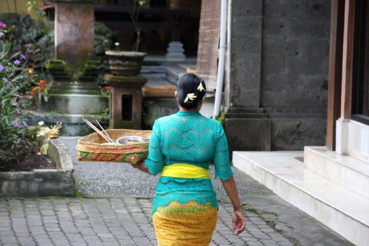 Kuvia Balilta. Ubud, sisäpihanäkymä.