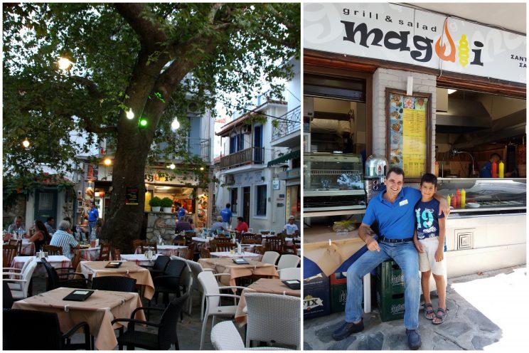Skopelos, ravintolat: Magali
