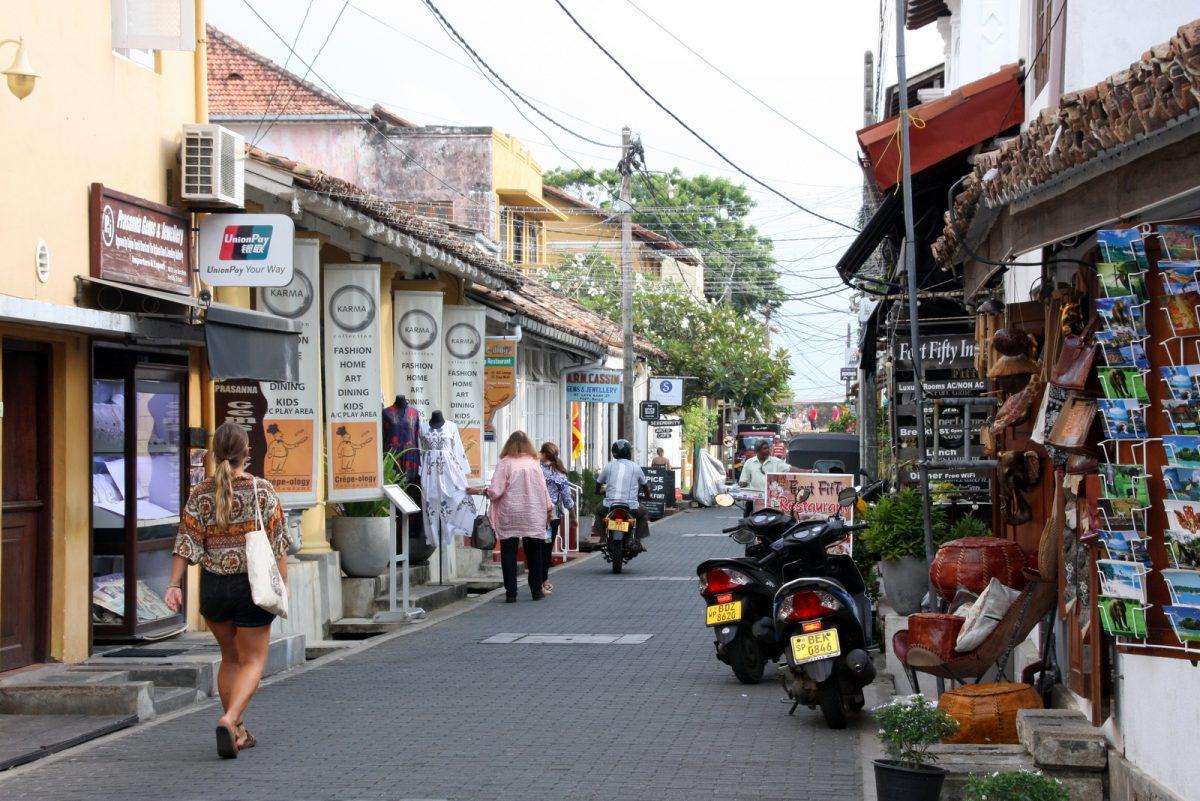 Galle, Sri lanka - ostoskatu