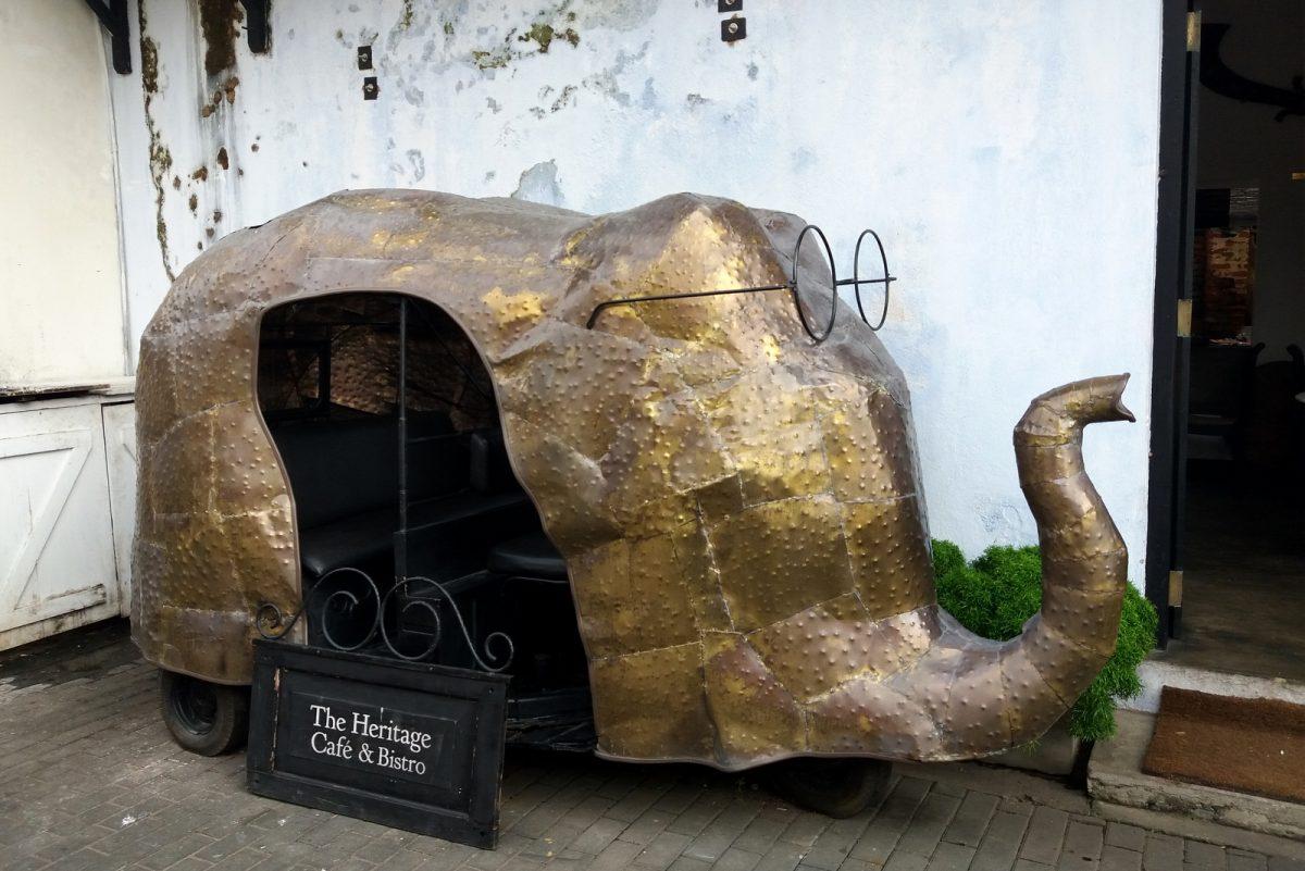 Galle, Sri lanka - tuktuk-taidetta