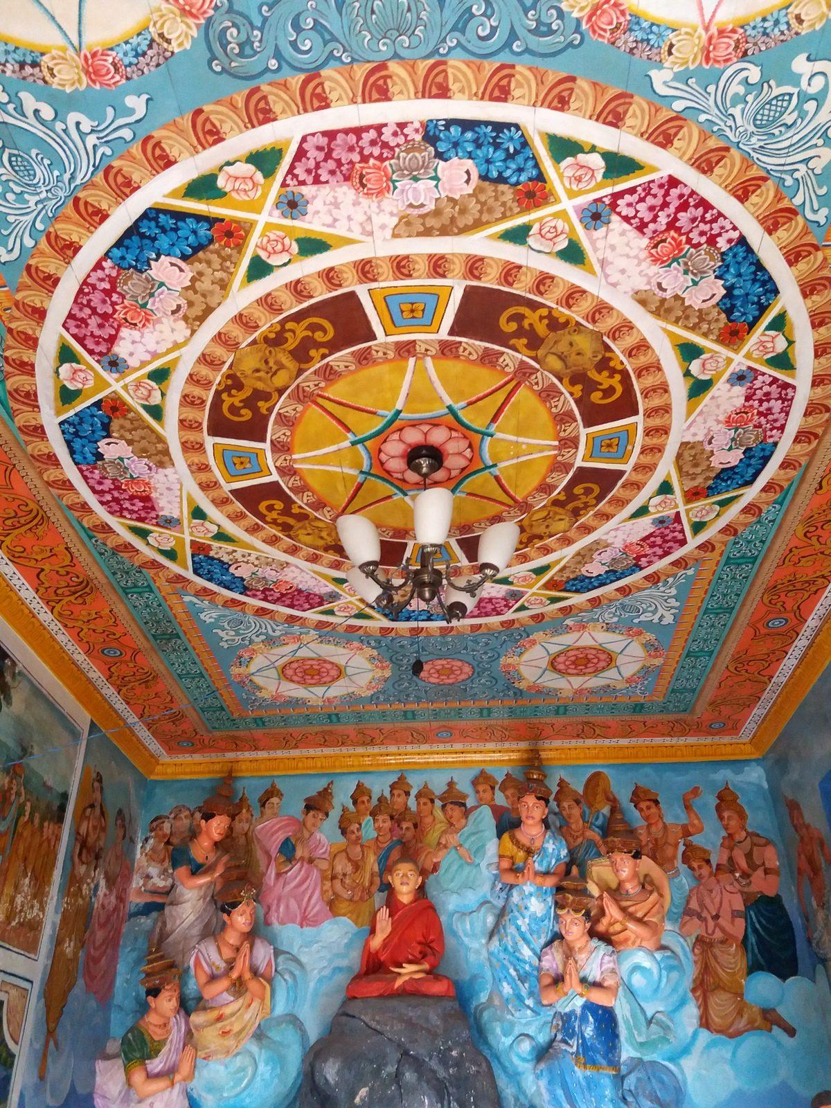Galle, Sri lanka - temppeli sisältä