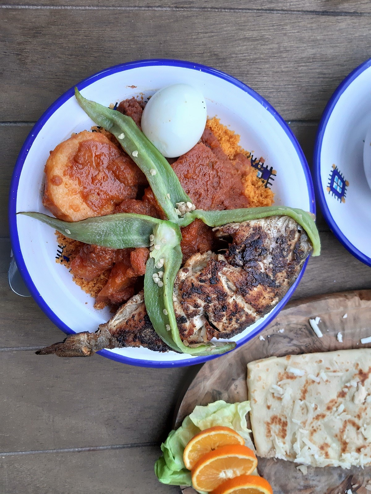 Sousse, Café Kasbah, kala-couscous